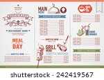restaurant menu design  | Shutterstock .eps vector #242419567