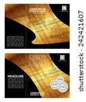 brochure folder leaflet... | Shutterstock .eps vector #242421607