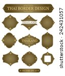 vector border design thai art | Shutterstock .eps vector #242431057