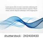 background with abstract blue... | Shutterstock .eps vector #242433433