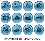vacations button set | Shutterstock .eps vector #242436403