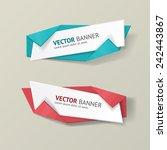 vector infographic origami... | Shutterstock .eps vector #242443867