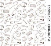 doodle seamless background... | Shutterstock .eps vector #242460373