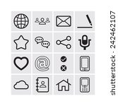 set of simple social icons | Shutterstock .eps vector #242462107
