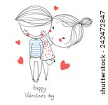 valentine's day. boy and girl....