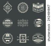 retro design insignias... | Shutterstock .eps vector #242484847