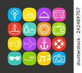set of simple icons for... | Shutterstock .eps vector #242489707