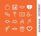 set of simple lovely icons for... | Shutterstock .eps vector #242508367