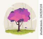 tree illustration  spring   Shutterstock .eps vector #242529133