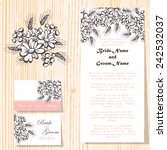 wedding invitation cards with... | Shutterstock .eps vector #242532037