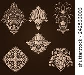 vector set of damask ornamental ... | Shutterstock .eps vector #242533003
