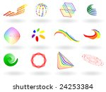 collection of colorful 3d... | Shutterstock . vector #24253384