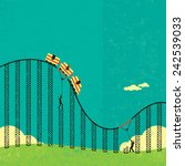 support in a roller coaster... | Shutterstock .eps vector #242539033
