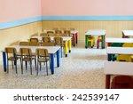 lunchroom of the refectory of... | Shutterstock . vector #242539147