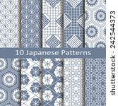 set of ten japanese patterns | Shutterstock .eps vector #242544373