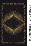 tarot cards   back design. sun... | Shutterstock .eps vector #242548237