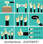 hand vote vector set | Shutterstock .eps vector #242558557