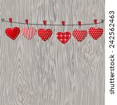love valentines hearts hanging... | Shutterstock .eps vector #242562463