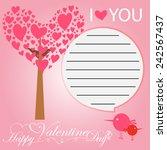 happy valentines day | Shutterstock .eps vector #242567437