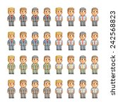 pixel art collection of... | Shutterstock .eps vector #242568823