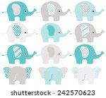elephants | Shutterstock .eps vector #242570623