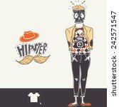hipster background in retro... | Shutterstock . vector #242571547