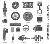 set of auto spare parts. car... | Shutterstock .eps vector #242575897