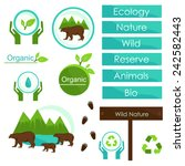 elements of ecology signs and... | Shutterstock .eps vector #242582443