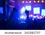 crowd on a concert | Shutterstock . vector #242582737