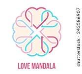 many united hearts   friendship ... | Shutterstock .eps vector #242586907