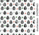 vector pattern with watercolor... | Shutterstock .eps vector #242589463