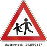 german warning sign about... | Shutterstock . vector #242593657