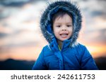 4 year old mixed race asian... | Shutterstock . vector #242611753