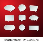 modern speech bubble for... | Shutterstock .eps vector #242628073