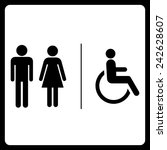 restrooms symbol sign | Shutterstock .eps vector #242628607
