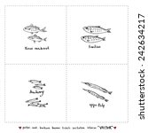 seafood menu illustrations  ... | Shutterstock .eps vector #242634217