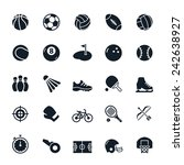 sport icons vector illustration | Shutterstock .eps vector #242638927
