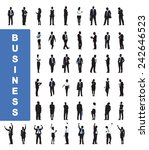 silhouettes of business people... | Shutterstock .eps vector #242646523