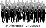 illustration of business people ... | Shutterstock .eps vector #24265096