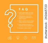 faq   question sign on a yellow ... | Shutterstock .eps vector #242665723