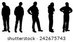 vector silhouette of a man on... | Shutterstock .eps vector #242675743