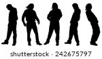 vector silhouette of a man on... | Shutterstock .eps vector #242675797