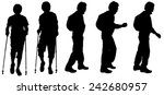 vector silhouette of a man who... | Shutterstock .eps vector #242680957