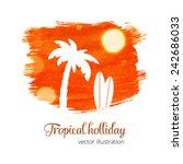 orange watercolor grunge splash ... | Shutterstock .eps vector #242686033