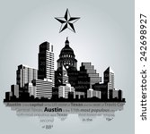 vector. austin city  capital of ... | Shutterstock .eps vector #242698927