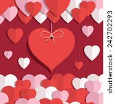 red  pink and white valentine... | Shutterstock .eps vector #242702293