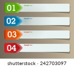 colorful modern text box... | Shutterstock .eps vector #242703097