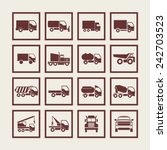truck icons for site | Shutterstock .eps vector #242703523