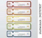 design clean number banners... | Shutterstock .eps vector #242707837