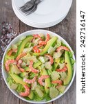 salad with shrimp  avocado and... | Shutterstock . vector #242716147